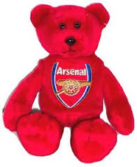 Arsenal Beanie Bear