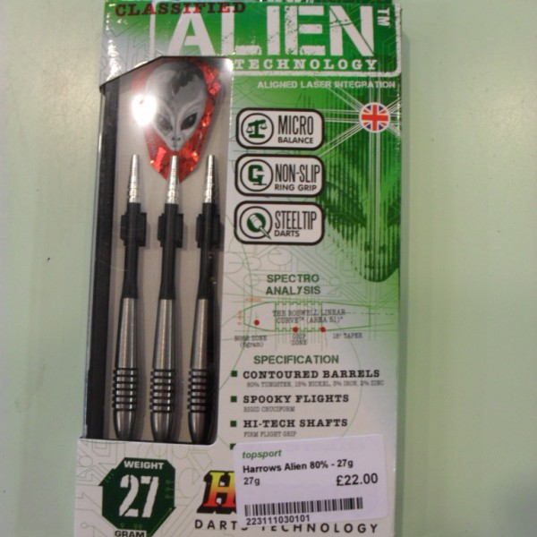 Harrows Alien 80% Darts Set