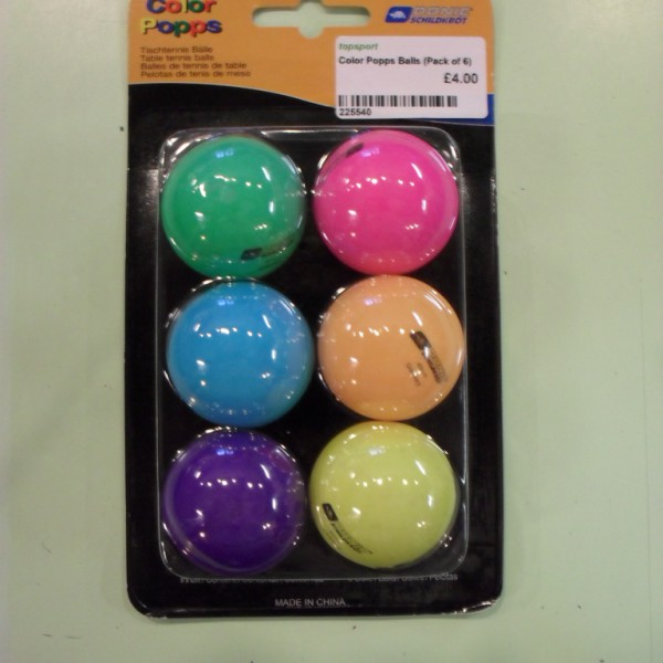 Colour Popps Table Tennis Ball